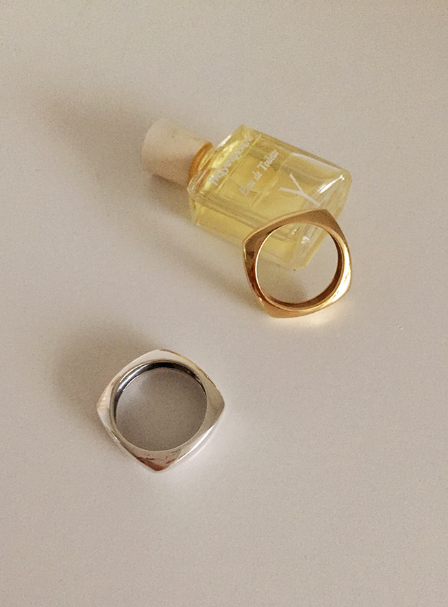 (Silver 925 & 18k Gold plating) inner ring (5 sizes)