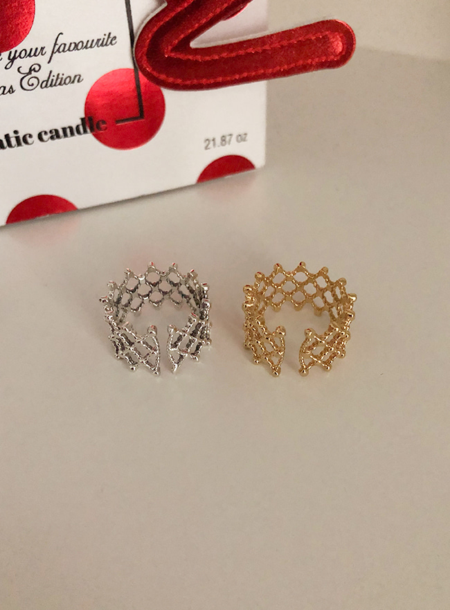 (Silver 925 & 18k Gold plating) dentelle ring