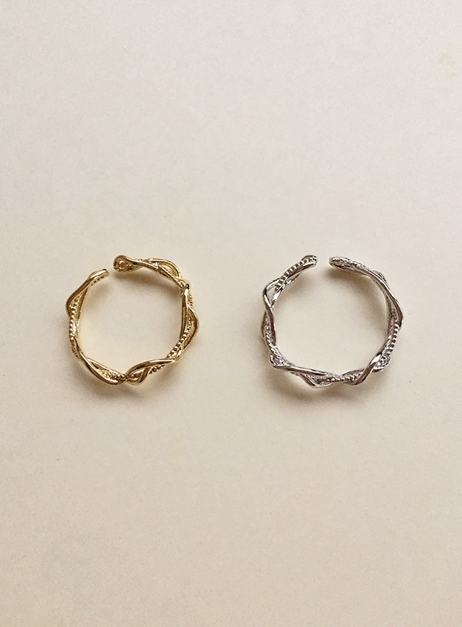 trois brins ring (2 colors) (Allergy free)