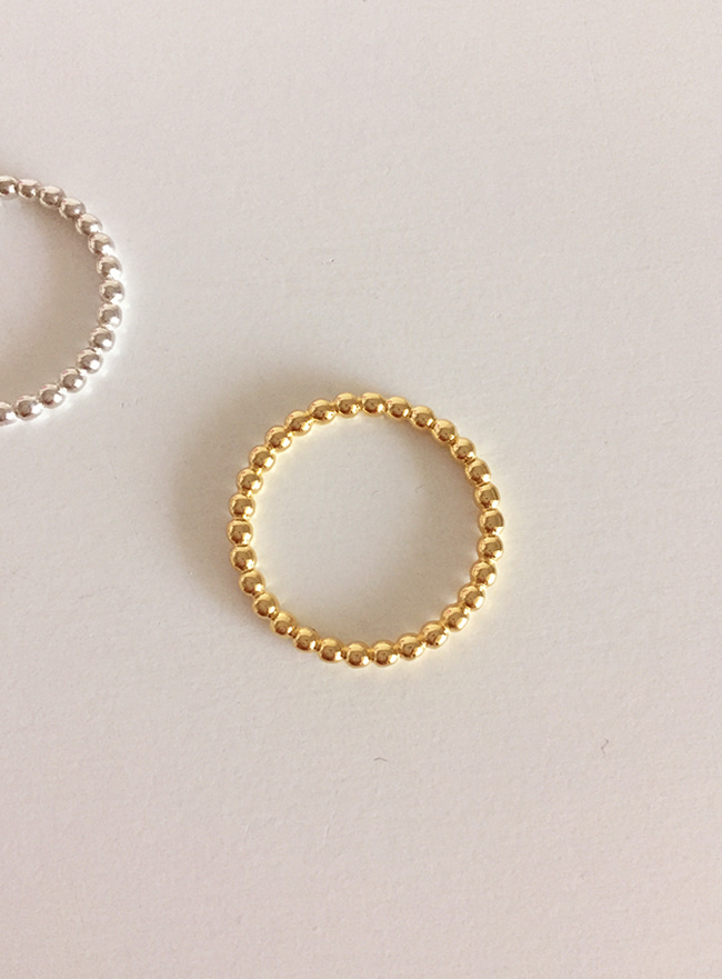 (Silver 925 & 16k Gold plating) round ring (2 colors) (5 sizes, Allergy free)