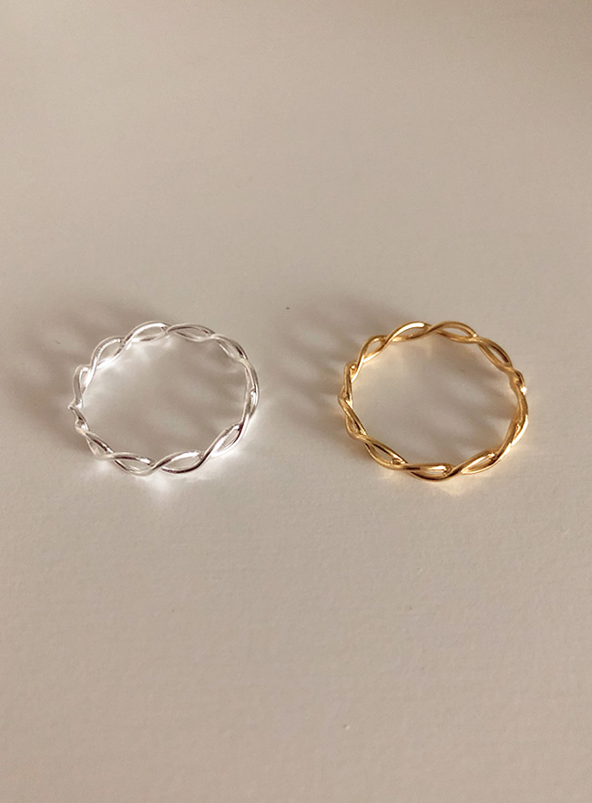 (Silver 925 & 18k Gold plating) fino ring (8 sizes)
