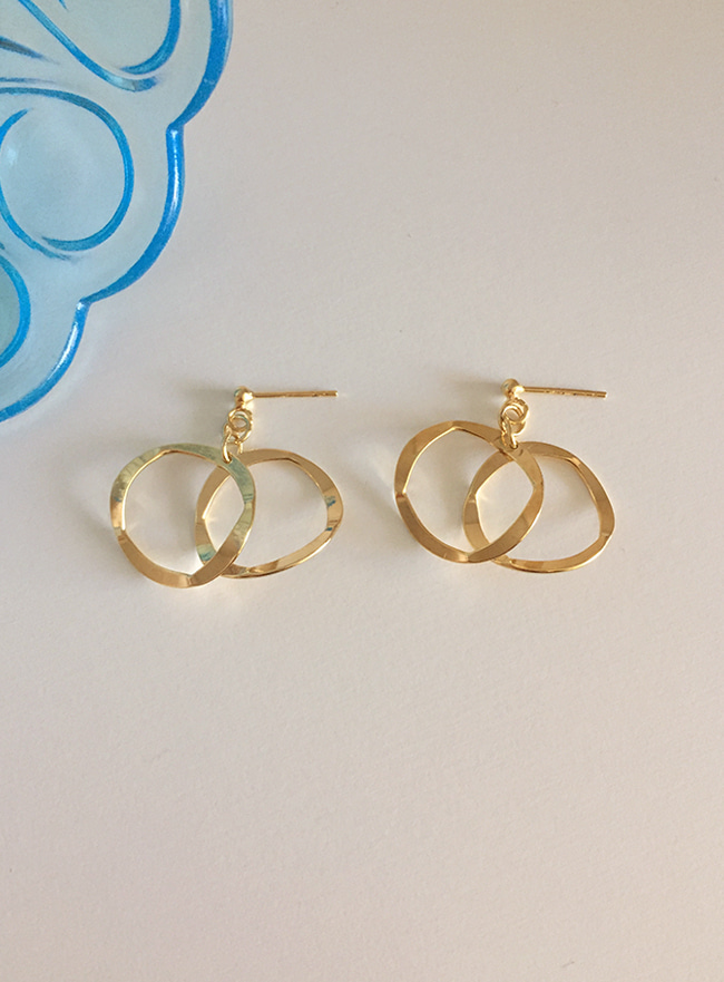 (Silver 925 & 16k Gold plating) trim earring