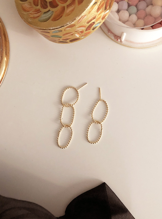 (Silver 925 & 16k Gold plating) neon earring