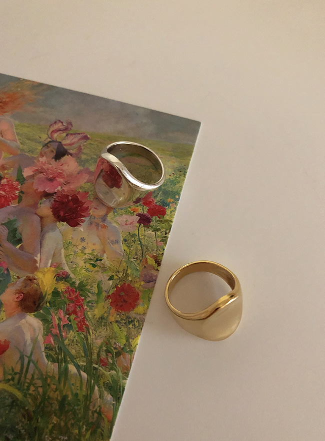 (Silver 925 & 18k Gold plating) mirror ring (5 sizes)