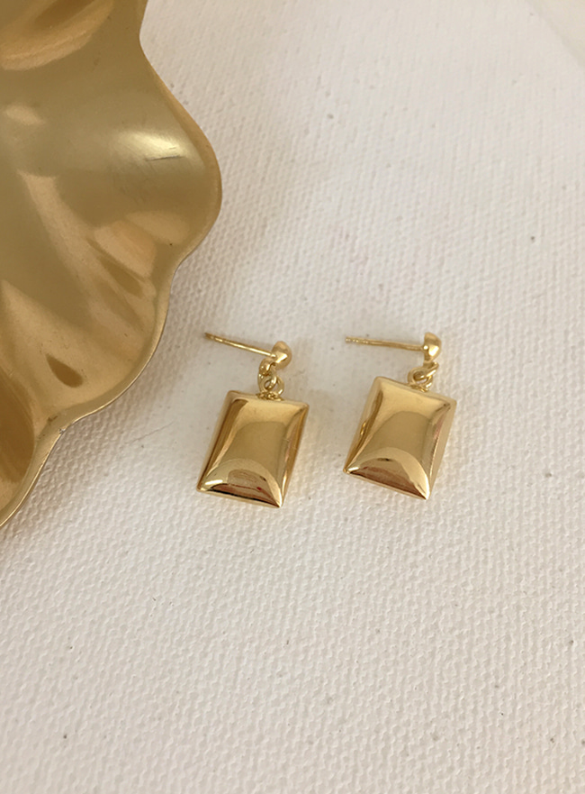 (Silver 925 & 18k Gold plating) smooth cereal earring