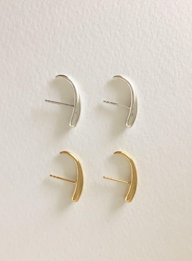 (Silver 925 & 18k Gold plating) solid ear cuff earring