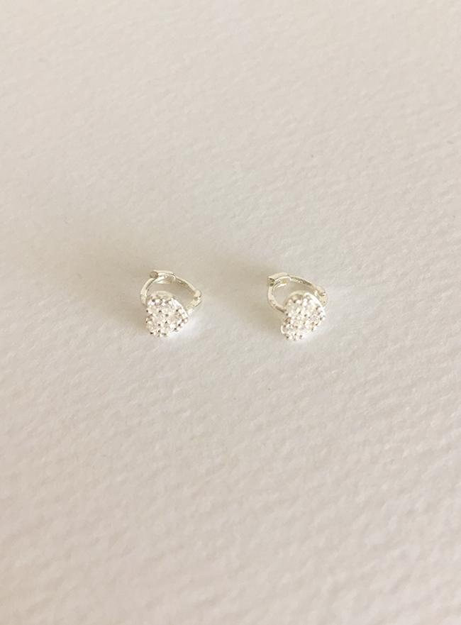 (Silver 925) mini cubic earring