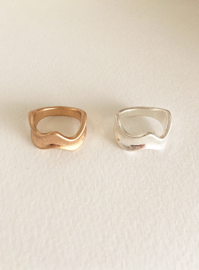 wave line ring (12호) (2 colors) (Allergy free)