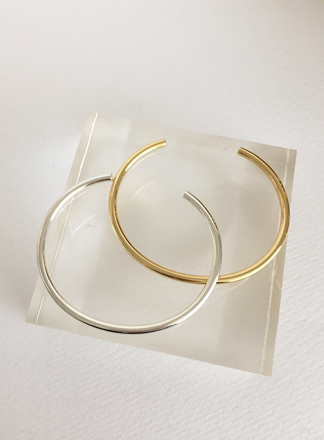 (Silver 925 & 16k Gold plating) simple bangle