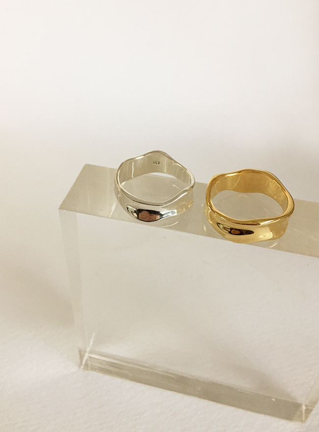 (Silver 925 & 18k Gold plating) pure ring (4 sizes)