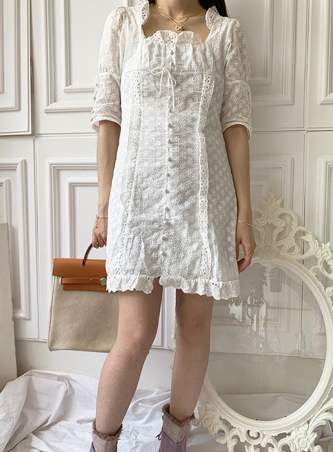 [배송 공지 필독] ღDEEP SUMMERღ frill dress