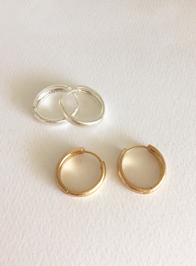vintage ring earring (2 colors) (Allergy free)