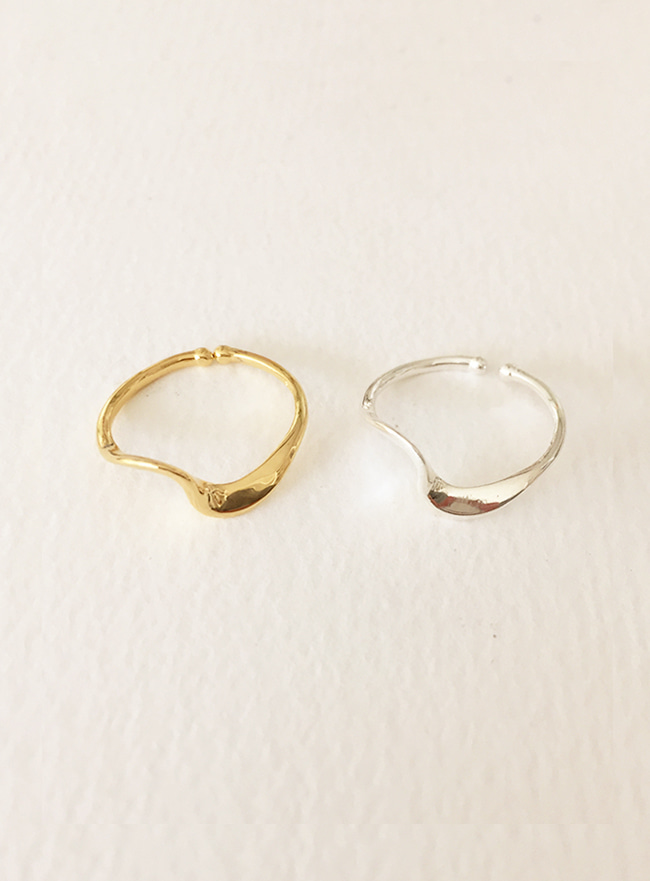 (Silver 925 & 16k Gold plating) wave ring