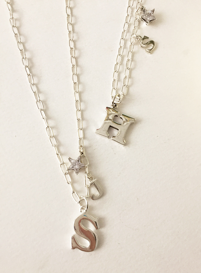 (Silver 925) your initial necklace (A~Z)