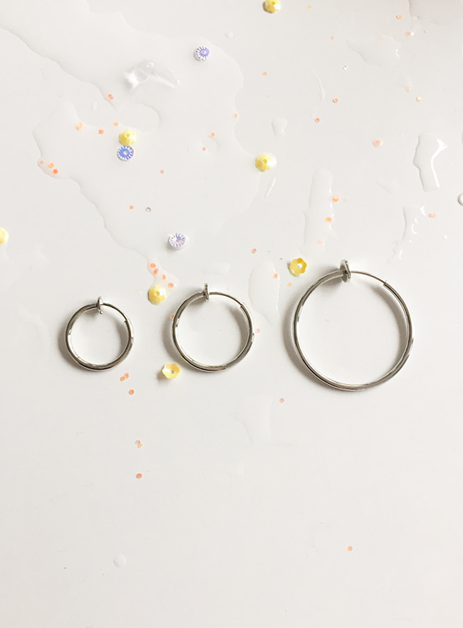 ring ear cuff (귀찌, 3 sizes) (Allergy free)