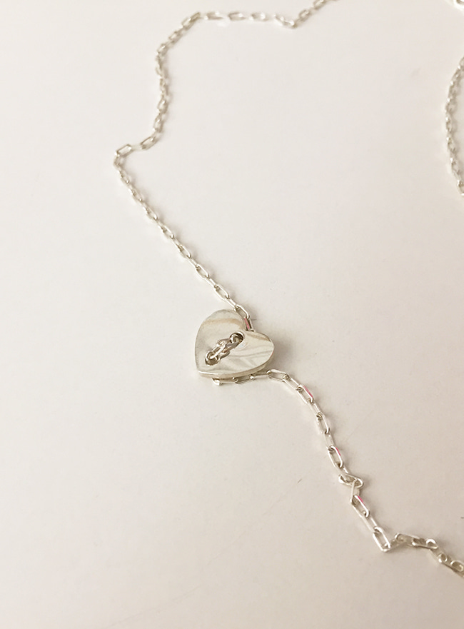 (Silver 925) heart secret necklace
