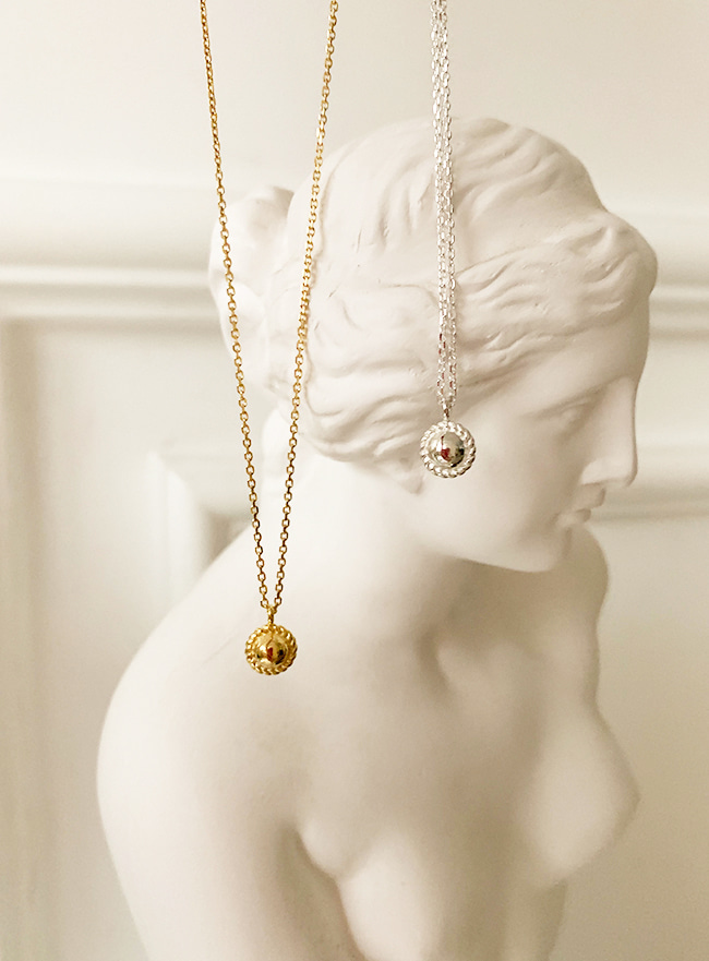 (Silver 925 & 18k Gold plating) planet necklace (3 sizes)