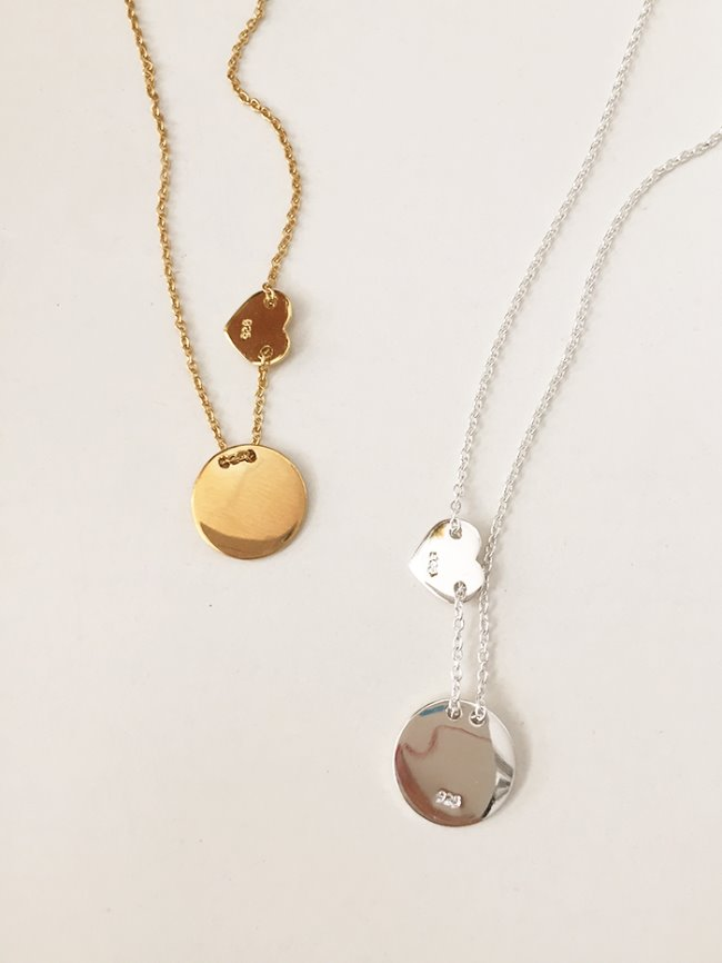 (Silver 925 & 18k Gold plating) together necklace