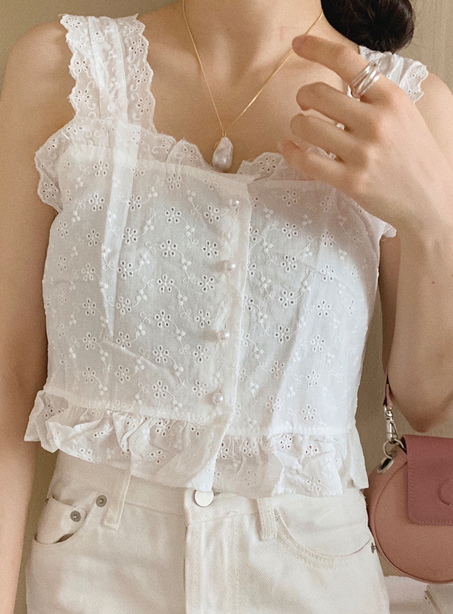 ღDEEP SUMMERღ pearl lace top