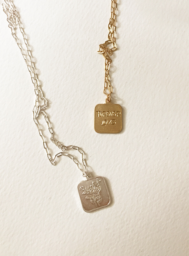 forever love necklace (2 colors) (Allergy free)