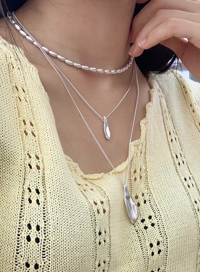 melting necklace (2 colors) (Allergy free)