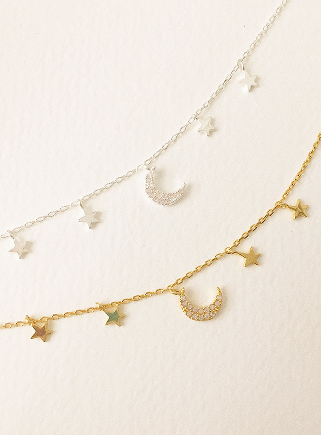 (Silver 925) the cosmos necklace (2 colors)
