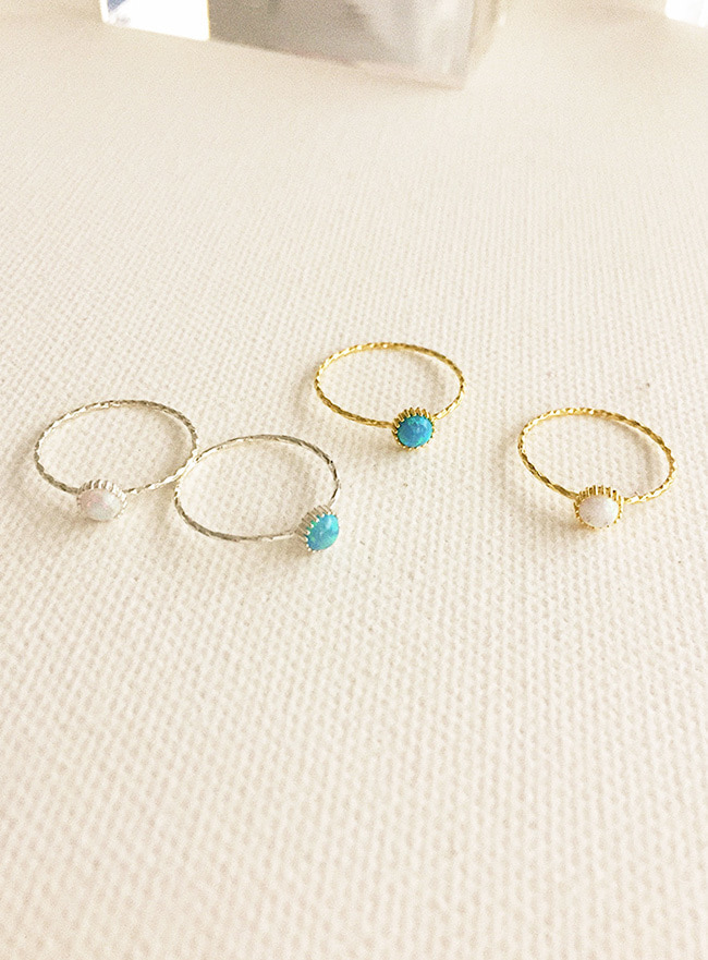 (Silver 925) opal ring (3 sizes) (2 colors, 오팔)
