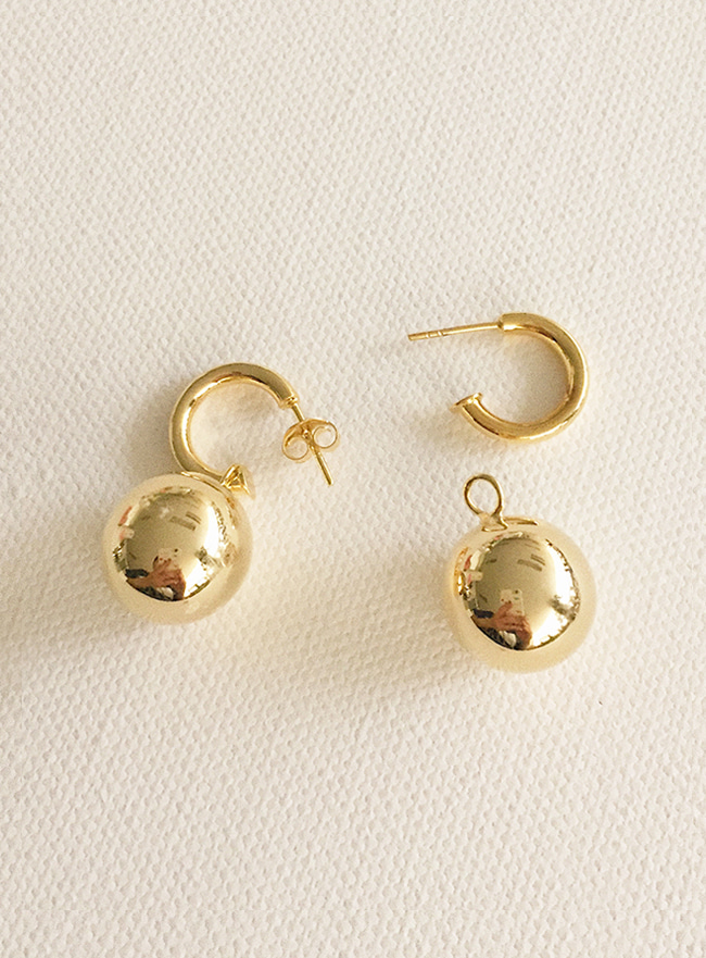 (Silver 925 & 16k Gold plating) real earring