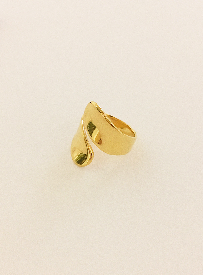 (Silver 925 & 18k Gold plating) wide ring