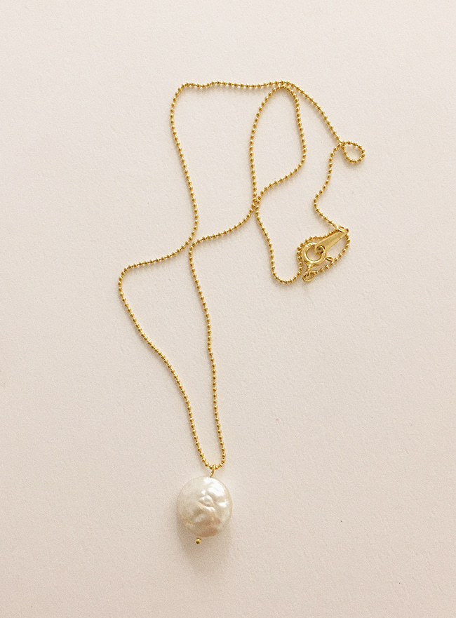 (Silver 925) natural pearl necklace (2 colors)