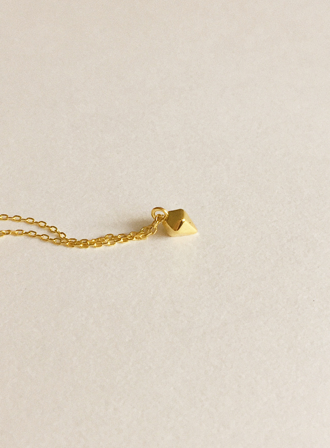 (Silver 925 & 18k Gold plating) mini diamond necklace
