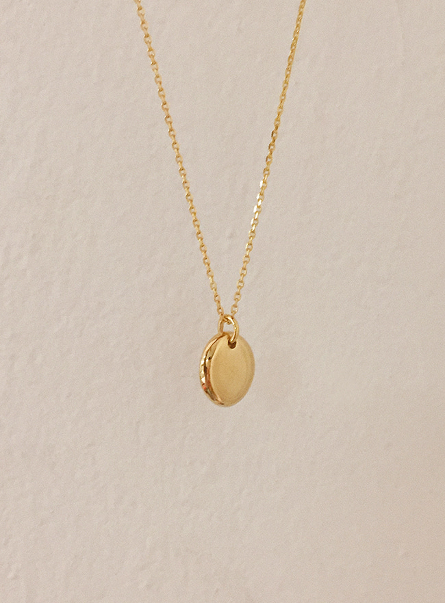 (Silver 925 & 18k Gold plating) ellipse necklace