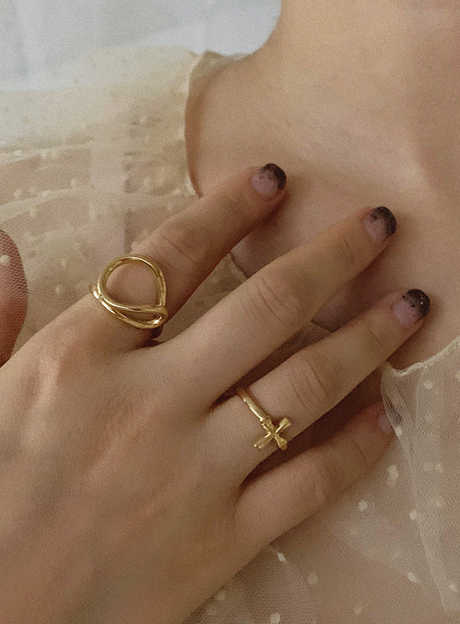 (Silver 925 & 18k Gold plating) faith ring (5 sizes)