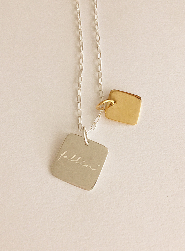 (Silver 925) fallin' for you necklace (3 types)