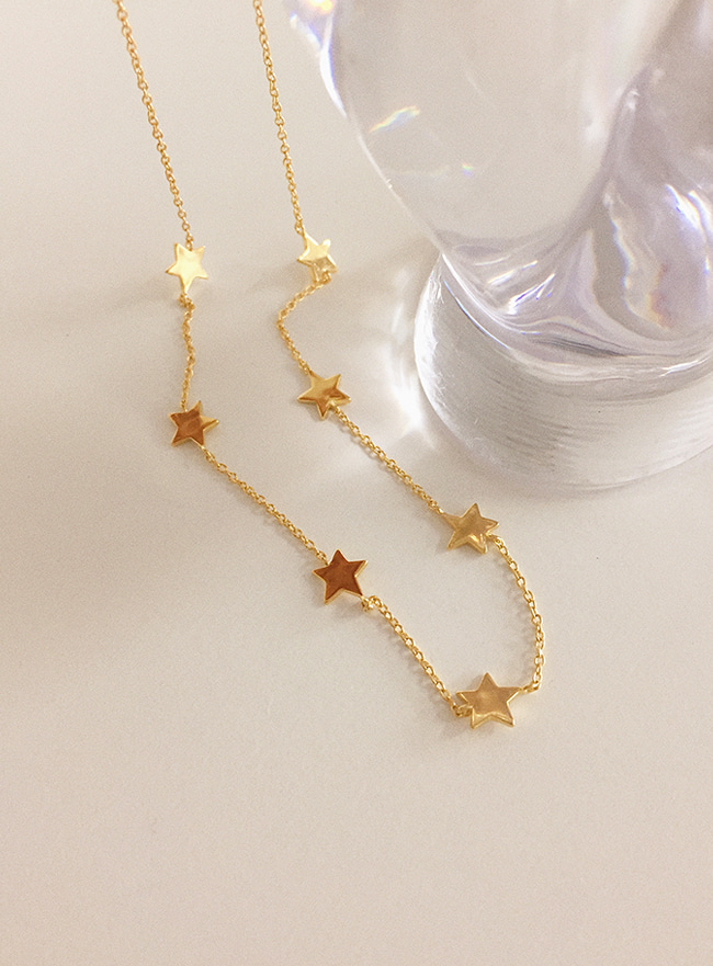 (Silver 925) 7 stars necklace (2 colors)