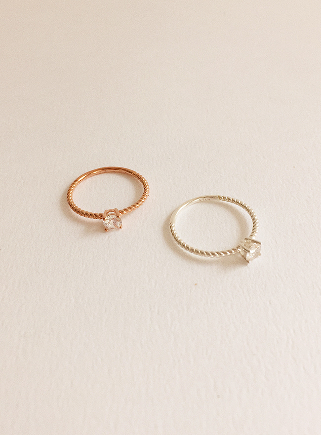 (Silver 925) once ring (2 colors) (8 sizes)