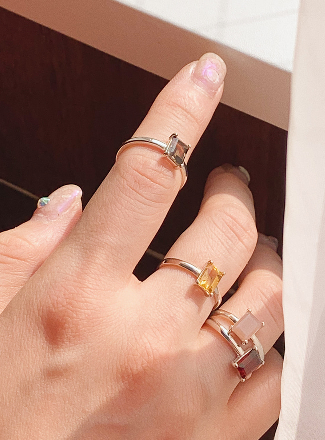 (Silver 925) radiance ring (원석, 4 types)